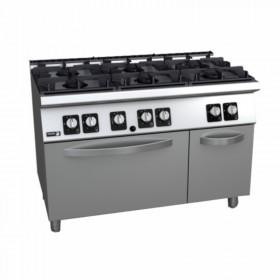 Fourneau au gaz 6 feux et four FAGOR CG7-61 - piano de cuisson professionnel