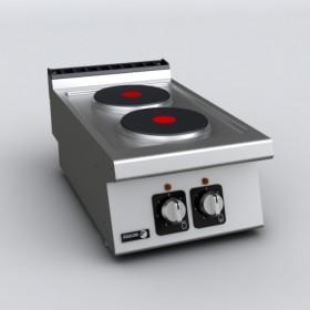 Réchaud électrique professionnel 2 plaques FAGOR CE7-20 - fourneau à poser