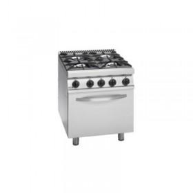 Cuisinière mixte inox 4 feux et four FAGOR CGE7-41