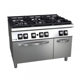 Piano de cuisson professionnel 6 feux gaz avec four FAGOR