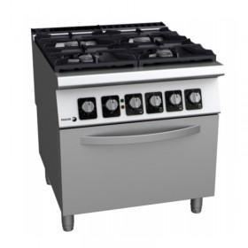 Cuisinière mixte inox 4 feux et un four FAGOR C-GE941