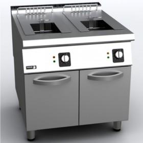 Friteuse professionnelle gaz 2 bacs de 15 litres inox FAGOR F-G215